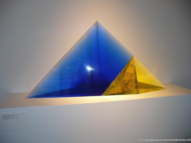 Marian Karel's The Pyramid glass art at Dan Dailey's Serpentina at the Corning Glass Museum.jpg