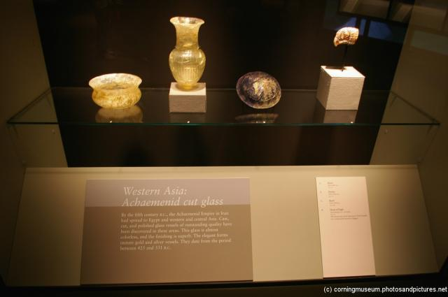 Archaemenid cut glass of Western Asia at Corning Museum of Glass.jpg
