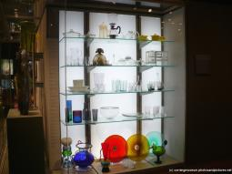 Colorful glass plates and glassware at International Studio glass art works at Corning Museum of Glass.jpg