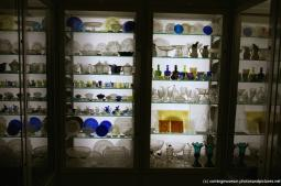 Glass plates and cups inside Jerome and Lucille Strauss Study Gallery at Corning Museum of Glass.jpg