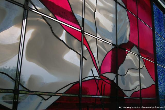 Red and white glass panel at Corning Museum of Glass.jpg