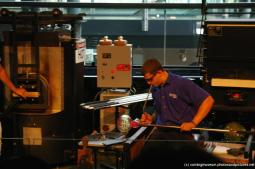 Glassblower at the Corning Museum of Glass Glass-making show.jpg
