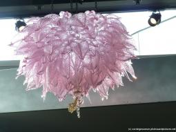 Pink hanging glass art at Corning Museum of Glass.jpg